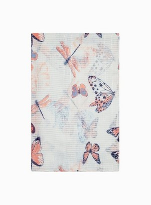 Dorothy Perkins Womens Multi Colour Butterfly Print Sequin Scarf, Multi Colour