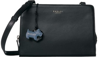 Radley London Liverpool Street - Medium Zip Top Crossbody (Black) Handbags