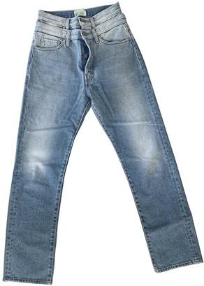 Aries Blue Cotton Jeans