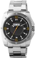 Edwin EMERGE Men's 3 Hand-Date Watch, Stainless Steel Case and Band