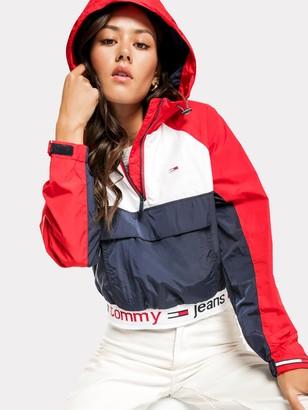 Tommy Hilfiger Branded Hem Popover in Navy & Red