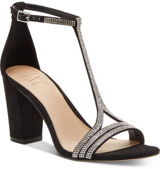 INC International Concepts Inc Keyla T-strap Evening Sandal, Women Shoes