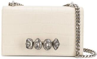 Alexander McQueen Ring Embellished Crossbody Bag