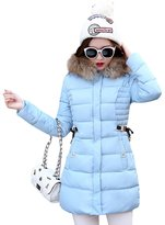 YOUJIA Women's Hooded Long Quilted Coat Jacket Padded Outwear Overcoat (, M)