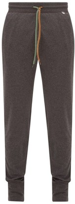 Paul Smith Logo-tab Cotton-jersey Track Pants - Dark Grey