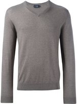 Hackett v neck fine knit jumper