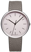 Uniform Wares M38 Textured Leather Stainless Steel Analog Watch