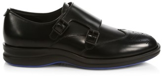 Harry's of London Bond Double Monk-Strap Leather Oxfords