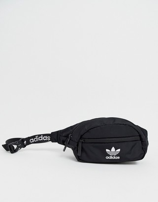 adidas fanny pack in black with taping strap