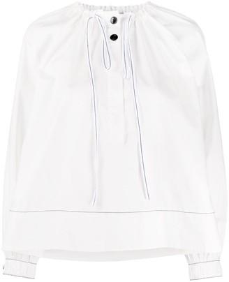 Proenza Schouler White Label Drawstring Neck Blouse