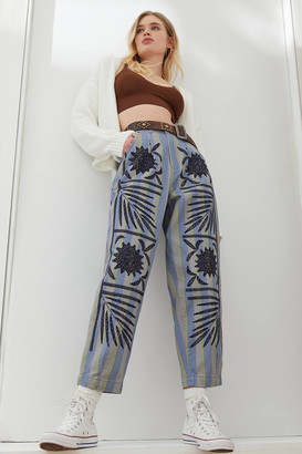 Kimchi & Blue Kimchi Blue Ember Embroidered High-Waisted Pant