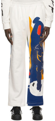 Bethany Williams White The Magpie Project Edition Fleece Magpie Lounge Pants