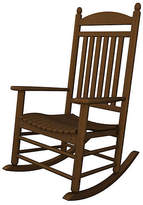 Polywood Jefferson Teak Rocker - Brown