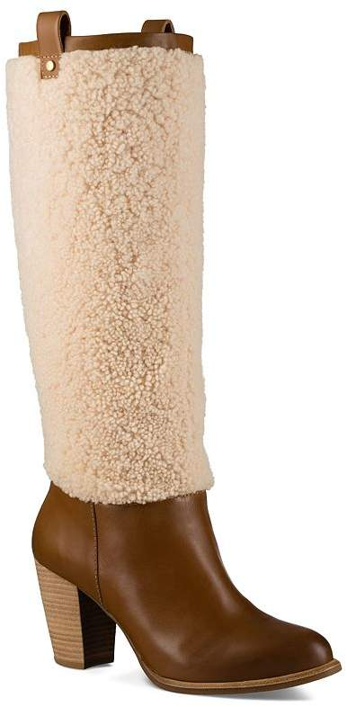 bf234e36504 Ava Sheepskin and Leather Tall Boots