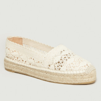 Castaner Beige Cotton and Leather Kenda Espadrille Sandal - cotton/leather | beige | 38 - Beige