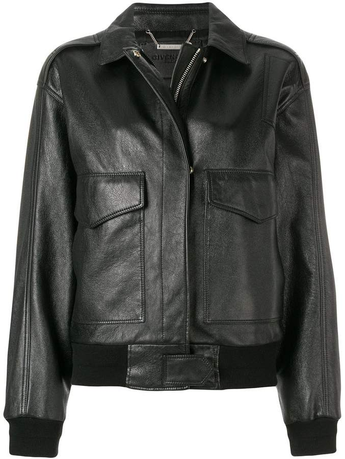 Givenchy zipped loose fit jacket