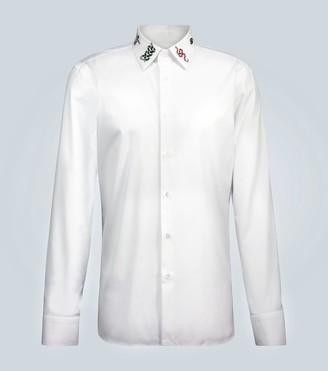 Gucci Embroidered long-sleeved shirt