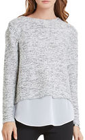 BCBGeneration Roundneck Long Sleeve Mock Layer Sweater