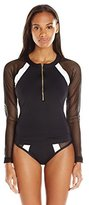 LaBlanca La Blanca Women's Game Set Mesh Long Sleeve Rash Guard Cover up