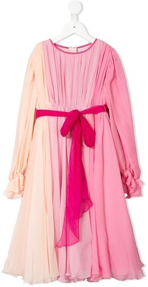 Dolce & Gabbana Pleated Ombre Dress
