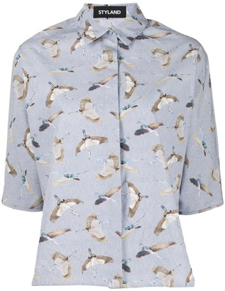 Styland Bird Print Shirt