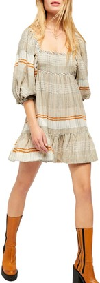 Free People Striped Peasant Dress