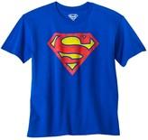 Dc Comics Boys' Superman Logo Graphic Short Sleeve T- Shirt - Royal