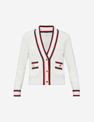 Ted Baker Striped stretch-knitted cardigan