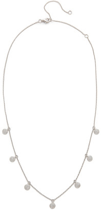 Shay 18k White Gold Pave Diamond Dangle Drop Necklace