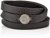 Feathered Soul Women's Unbreakable Disc & Leather Wrap Bracelet