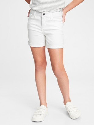 Gap Kids Denim Midi Shorts with Shield