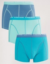 Bjorn Borg 3 Pack Trunks In Lake Blue