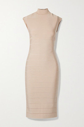 Herve Leger Icon Bandage Midi Dress