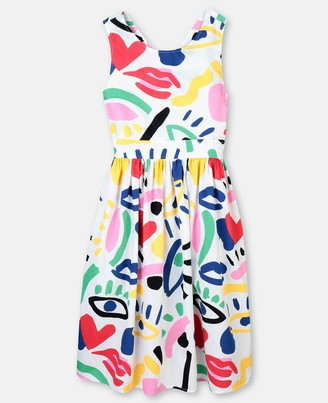 Stella McCartney graphic face cotton dress