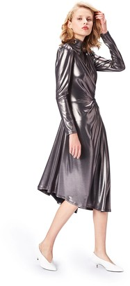 Find. Amazon Brand Women's Metallic Wrap Dress