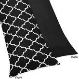 Sweet Jojo Designs Trellis Body Pillowcase in Black and White