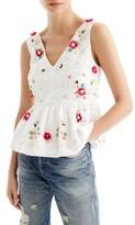 J.Crew Petite Women's Embellished Floral Top
