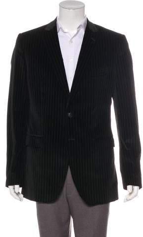 Dolce & Gabbana Velvet Pinstriped Blazer