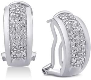 Townsend Victoria Diamond J-Hoop Earrings (1/4 ct. t.w.)