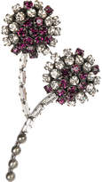Marni Embellished strass brooch