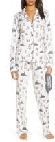 PJ Salvage Elephant Print Pajamas with Eye Mask