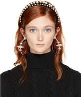 Miu Miu Black Velvet and Pearl Double Headband
