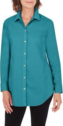 Foxcroft Joplin Cotton Button-Up Tunic