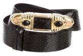 Judith Leiber Python Waist Belt