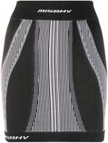 Misbhv contouring-panel knitted mini skirt