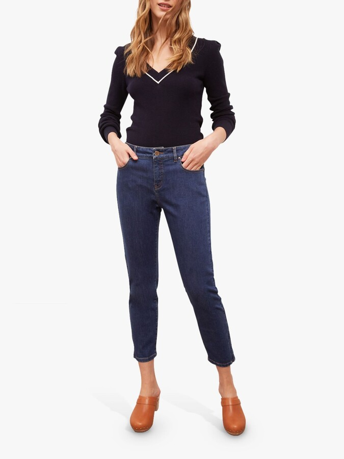 Thumbnail for your product : Gerard Darel Max Cropped Jeans, Blue