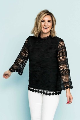 Gibson Lace Bell Sleeve Blouse