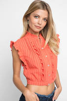 Plenty by Tracy Reese Victorian Button Crop Blouse