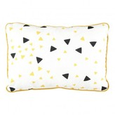 Nobodinoz Yellow and Black Triangle Cushion 23x34 cm