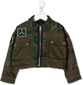 Diesel Janapy camouflage-print cropped jacket